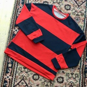 ☘️BOGO ZARA Oversize Rugby Sweater Navy and Red